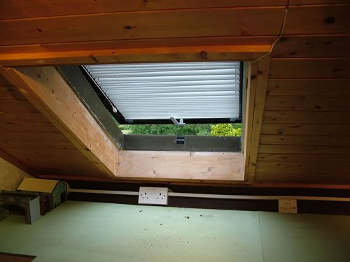 A velux window gives light and ventilation